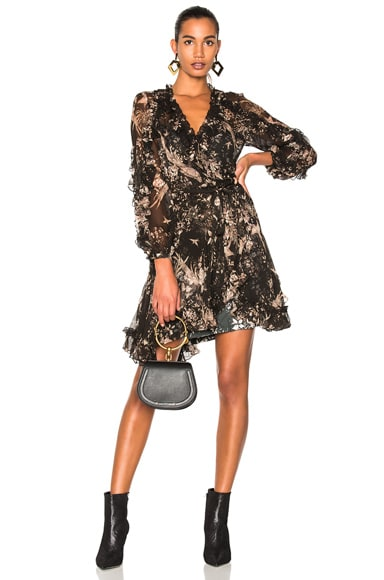 Maples Feathery Wrap Dress