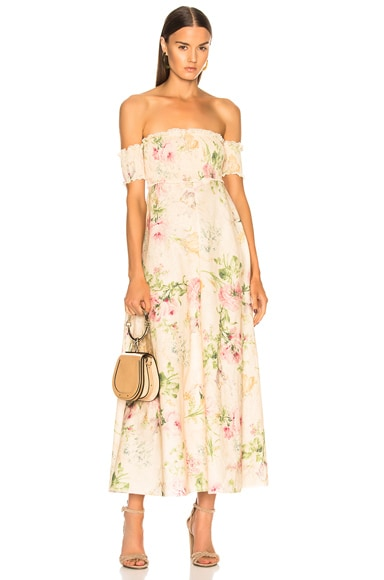 Iris Shirred Bodice Maxi Dress