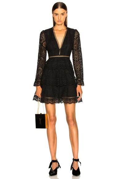 Tali Tiered Swirl Short Dress