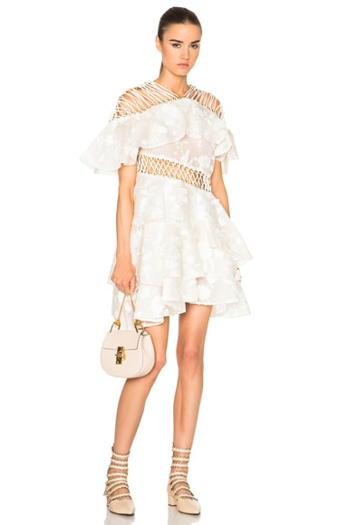 Zimmermann Mischief Layer Dress in Pearl