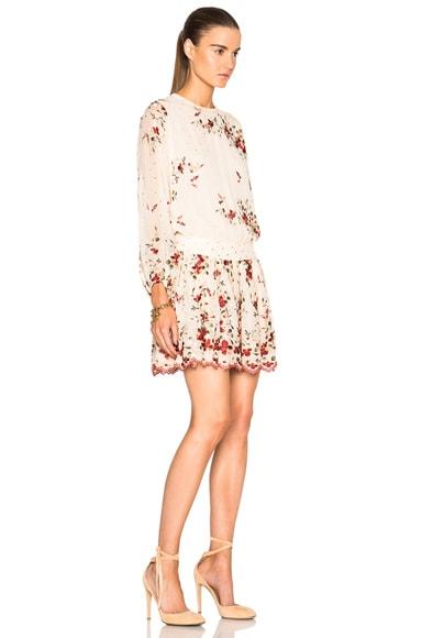 Sakura Embroidery Dress