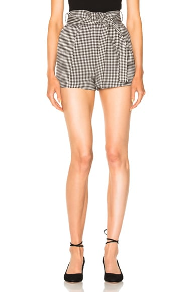 Gingham Drill Shorts