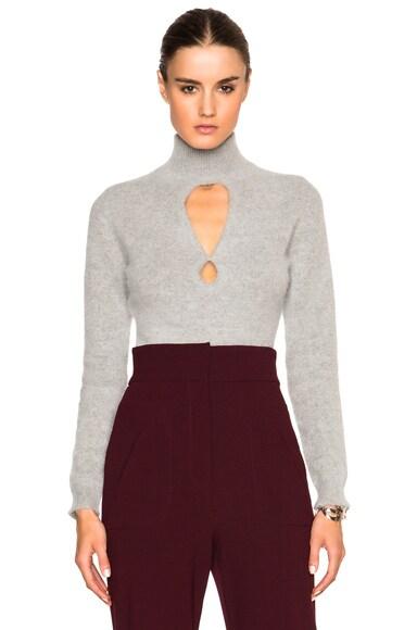 Zimmermann Arcadia Fluffy Sweater in Grey Marle