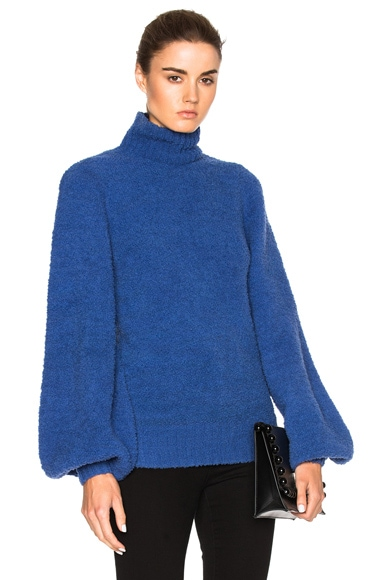 Zimmermann Adorn Slouch Poloneck Sweater in indigo