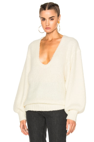 Zimmermann for FWRD Cavalier Fluffy Knit Sweater in Pearl