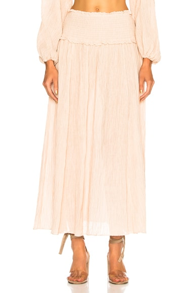 Bayou Shirred Long Skirt