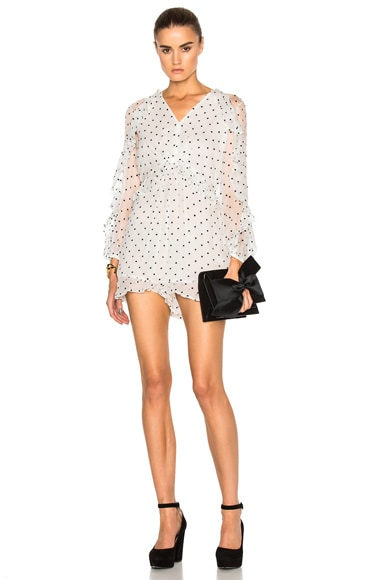 Zimmermann Adorn Romper in Pearl Navy Dot