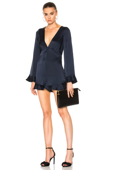 Zimmermann Sueded Tuck Playsuit in French Navy