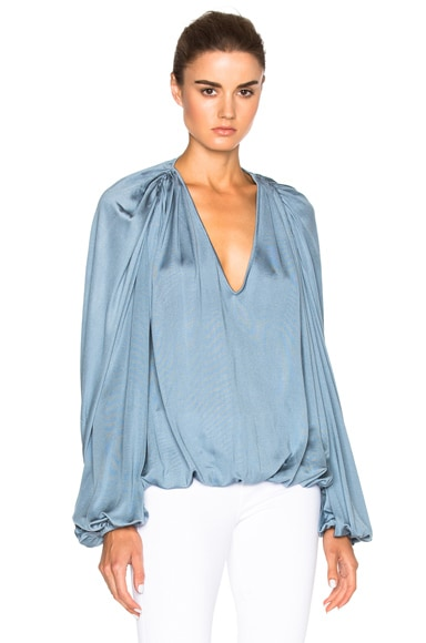 Zimmermann Adorn Scrunch Top in Indigo