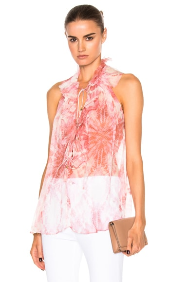 Zimmermann Winsome Ruffle Top in Tie Dye