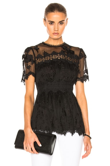 Zimmermann Tropicale Antique Top in Noir