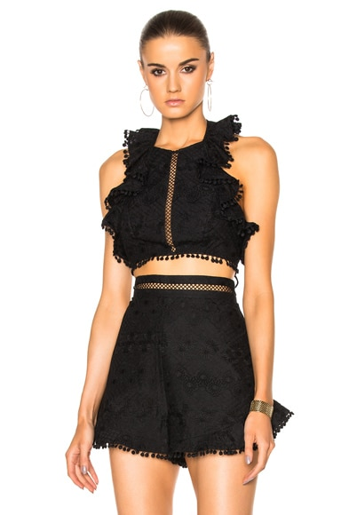 Zimmermann Caravan Flutter Top in Noir