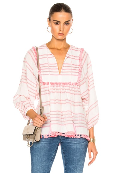 Zimmermann Valour Tassel Top in Stripe