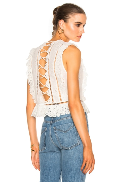 Zimmermann Valour Frill Top in White