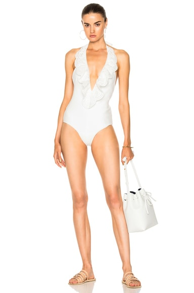 Meridian Frill Plunge Swimsuit