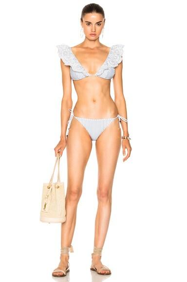 Meridian Stripe Tri Bikini Set
