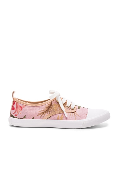 Zimmermann Print Sneakers in Pink Tropical