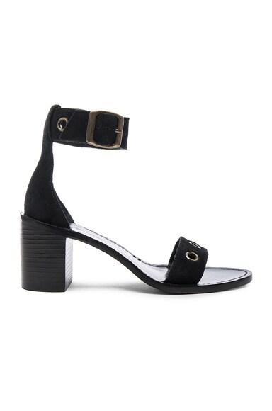 Zimmermann Suede Eyelet Mid Heels in Black