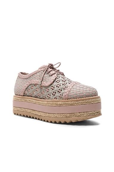 Weave Platform Sneakers