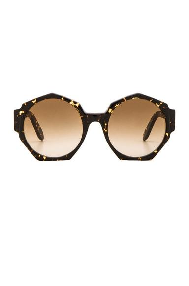 Zanzan Ortolan Sunglasses in Treacle Tortoiseshell & Brown