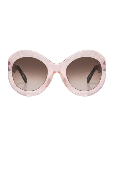 Zanzan Le Tabou Sunglasses in Pink Opal & Treacle Brown