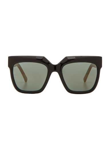 Zanzan Vesuvio Sunglasses in Black & Petrol