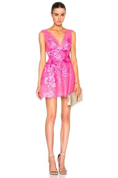 Zuhair Murad Lace Mini Dress in Pink