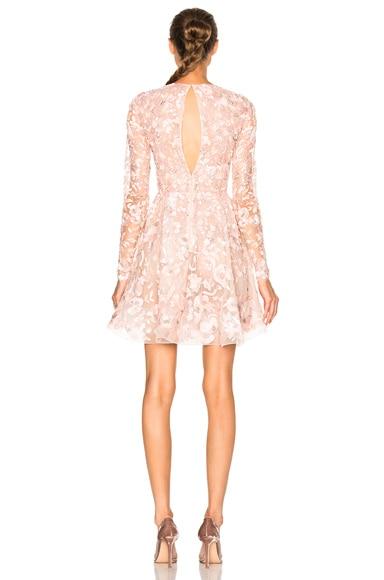 Embroidered Long Sleeve Mini Dress