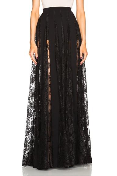 Zuhair Murad Lace Skirt in Black