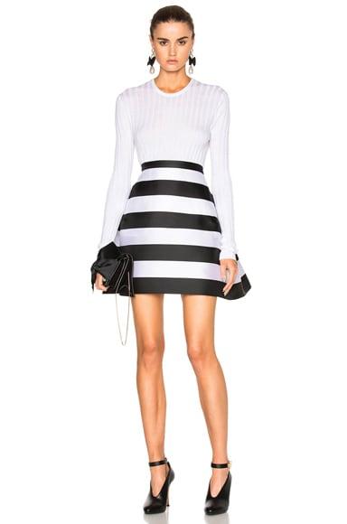 Stripe Scuba Skirt
