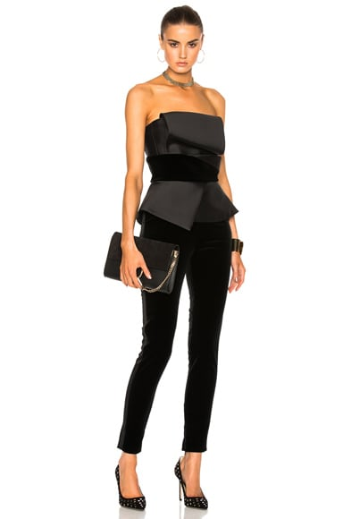 Velvet Stretch Fitted Jumpsuit