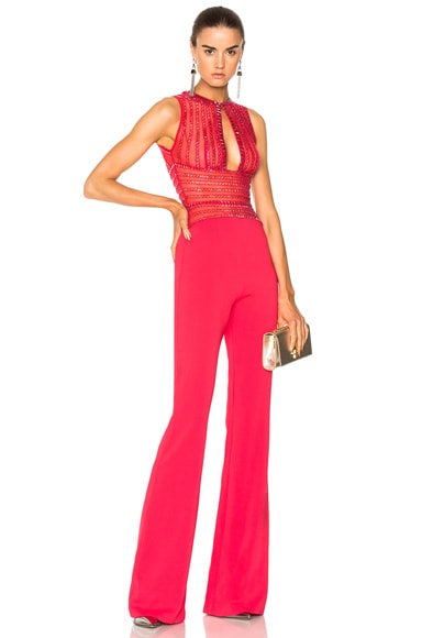 Embellished Keyhole Top Jumpsuit