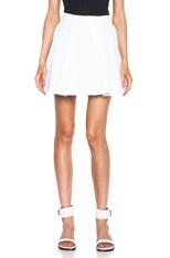 Sculpted Flirty Cotton Skirt