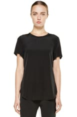 Silk Overlapped Side Tee