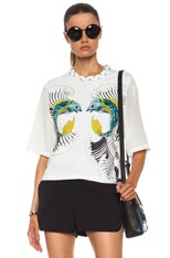 Animal Kingdom Cotton Tee with Embellished Neckline