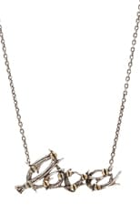 Antler Love Necklace w/ Brass Plated Screws