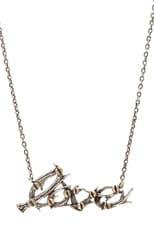 Antler Love Necklace w/ Brass Plated Screws