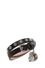 Double Wrap Skull Studded Bracelet