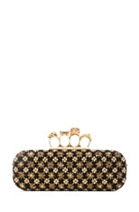 Embellished Knuckle Box Clutch