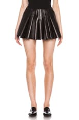 Irregular Seam Leather Skirt