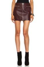 Pebbled Leather Mini Skirt