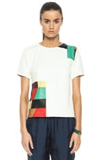 Patchwork Leather Top