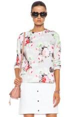 Floral Cotton Sweatshirt