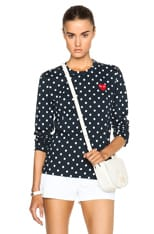 Cotton Red Emblem Dot Tee