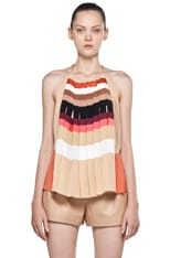 Silk Accordian Tank Top