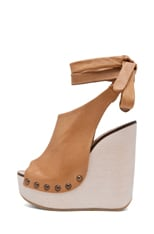 Leather Wrap Around Wedges