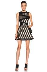Sleeveless Lace & Macrame Layered A Line Dress
