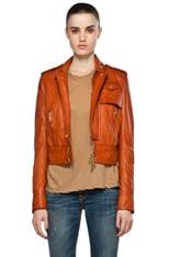 Linda Leather Boxy Jacket