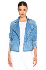 Obira Fluffy Jean Jacket