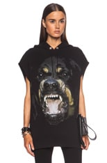 Sleeveless Rottweiler Cotton Hoodie